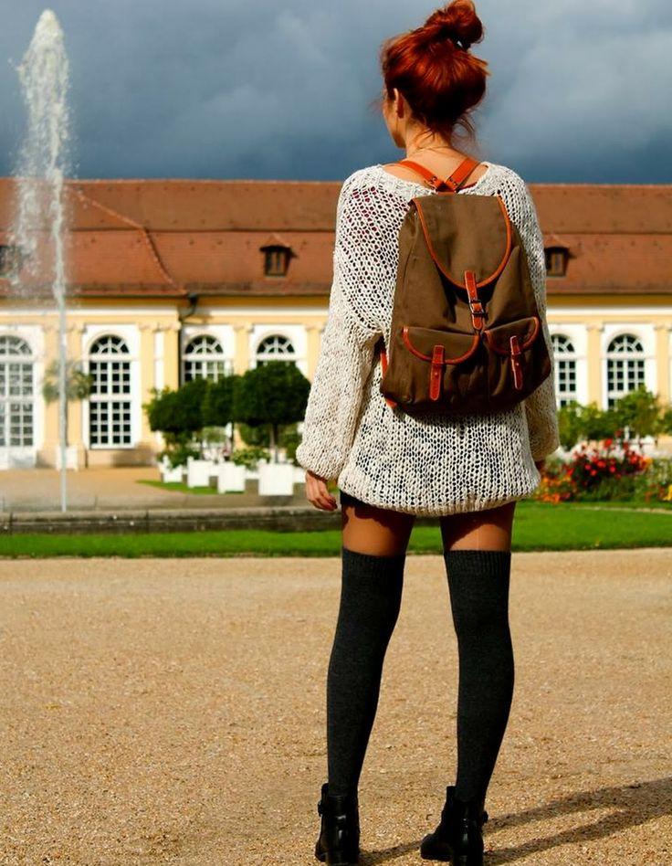 From N. with fashion: BACKPACK AND OVERKNEES