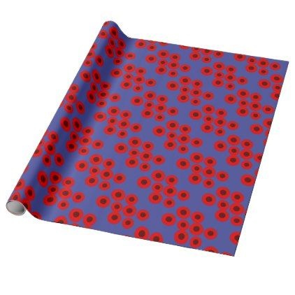 Design Plums on blue Wrapping Paper - blue gifts style giftidea diy cyo