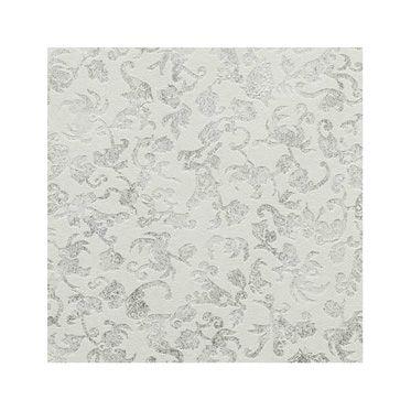 Papel pintado brocante damasco blanco papel for Rollo papel vinilico