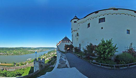 Panaroma from Marksburg Castle, Braubach