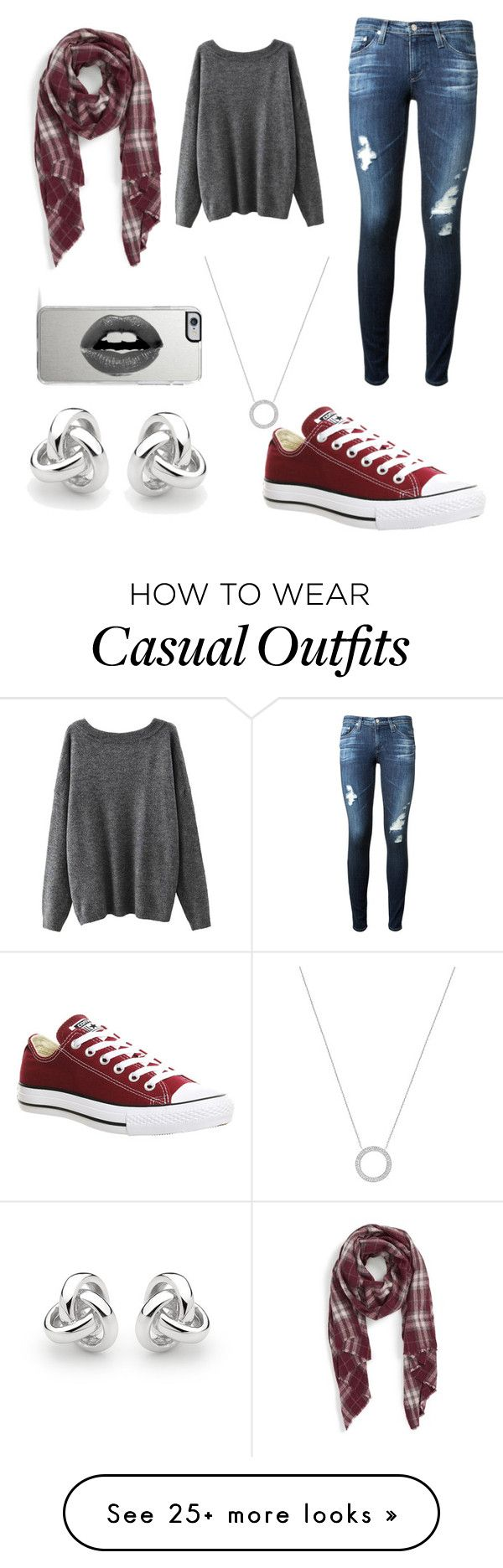 """casual"" by marissahaines77 on Polyvore featuring AG Adriano Goldschmied, Michael Kors, Converse, Sole Society, Lipsy and Georgini"