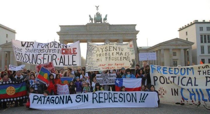Chilenos en el extranjero apoyan causa de Aysen