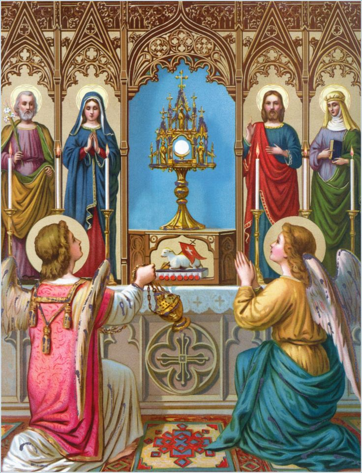Image result for Free pictures of Angels adoring the Blessed Sacrament