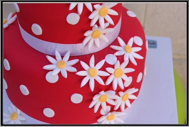 Red cake fondant