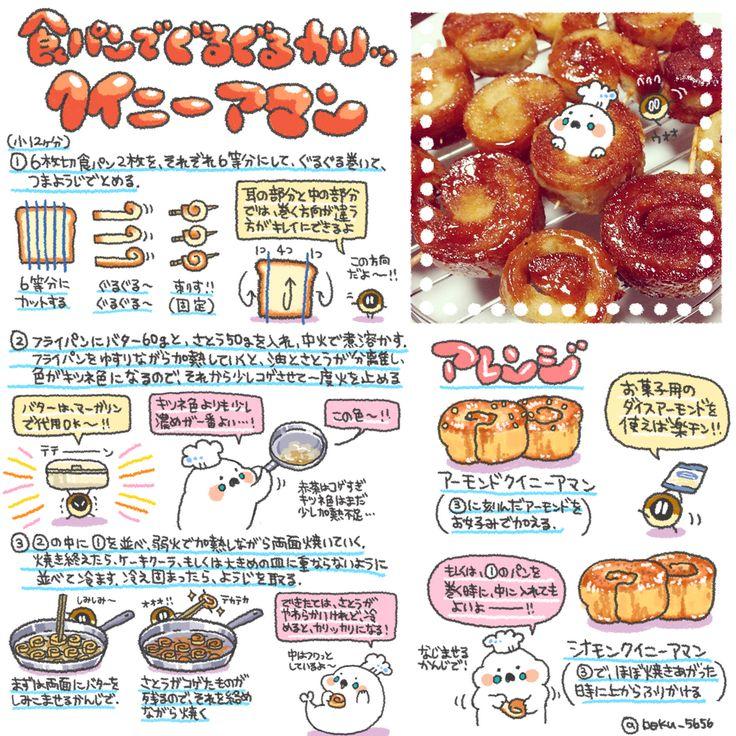 食パンでクイニーアマン (@boku_5656 | twitter)
