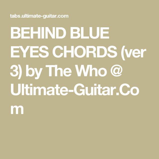 how to play behind blue eyes on ukulele