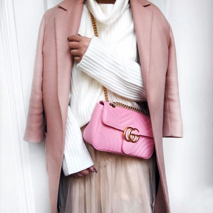 Pink marmont gucci bag
