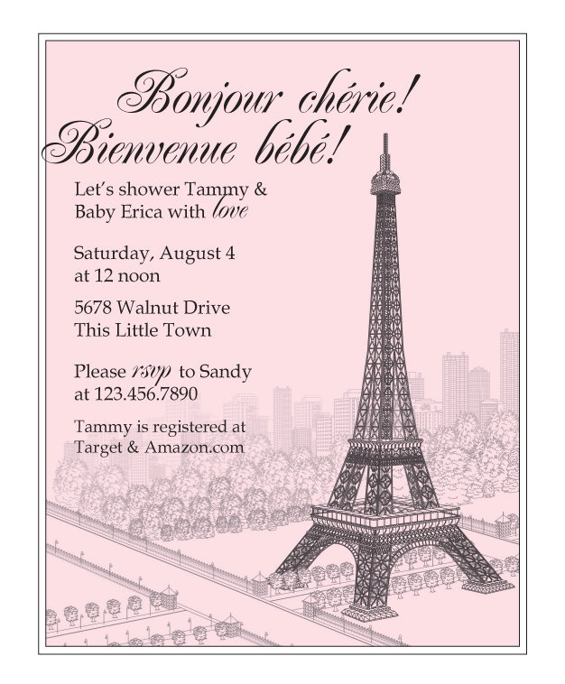 The Best French Baby Showers Ideas On Pinterest On Board - Invitation in french to birthday party