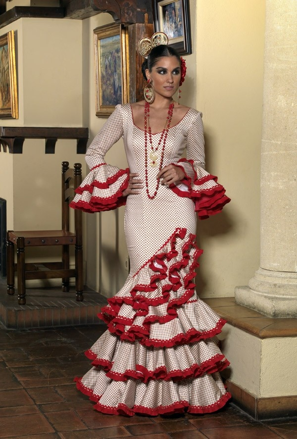 a gorgeous flamenco dress. red and white