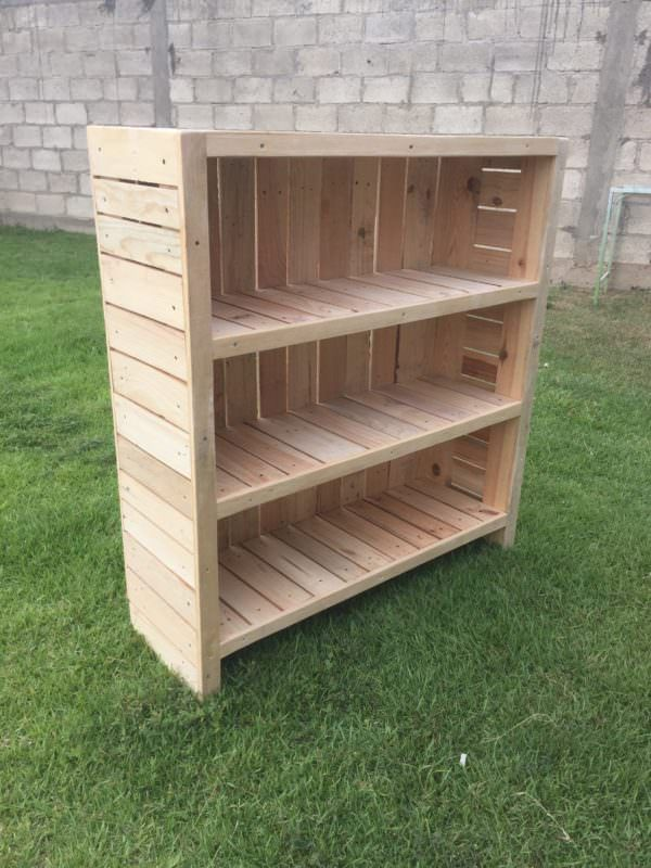 I made this Beautiful Pallet Bookcase using three pallets and 5 hours of time. I…