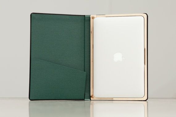 The Cartella for Macbook Air 20102012 Moleskin Case by PadandQuill, $59.99