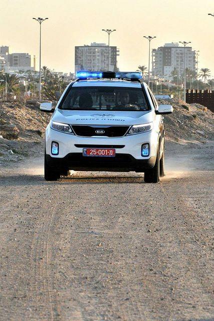 Kia Police Car in Israel