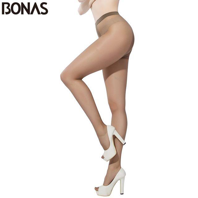 Bonas стойкие колготки для женщин т промежность кожа нейлон колготки сексуальный тонкий чулочно-носочные изделия хлопчатобумажные женские длинные брюки