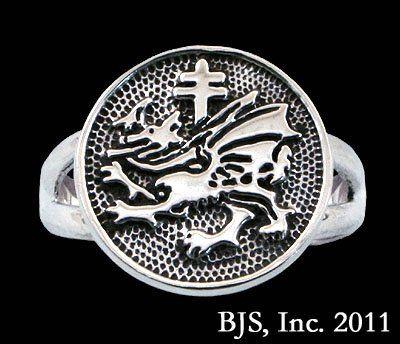 Order of the Dragon 1408 Dracula Sigil Ring in Sterling Silver @ niftywarehouse.com #NiftyWarehouse #Dracula #Vampires #ClassicHorrorMovies #Horror #Movies #Halloween #Vampire