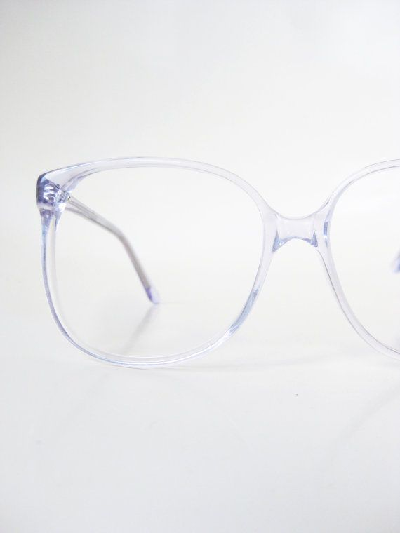 1970s Oversized Light Blue Wayfarer Eyeglass Frames Eyeglasses Pastel Baby Blue Clear Womens Mens Unisex Jordache USA America Classic
