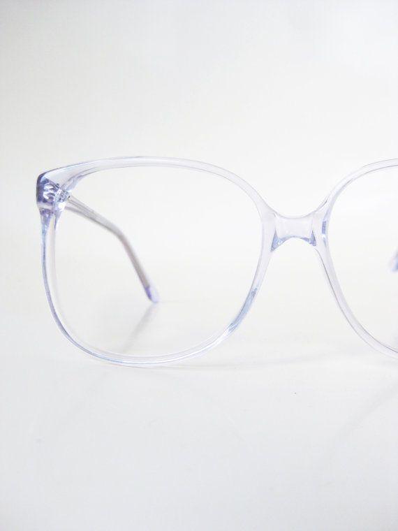 1970s Oversized Light Blue Wayfarer Eyeglass Frames Eyeglasses Pastel Baby Blue Clear Womens Mens Unisex Jordache USA America Classic