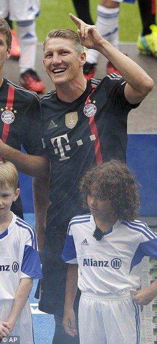 Big fan: Bastian Schweinsteiger...