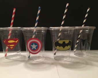 12 superman Cupcake Toppers superhéroe por InspiredbyLilyMarie