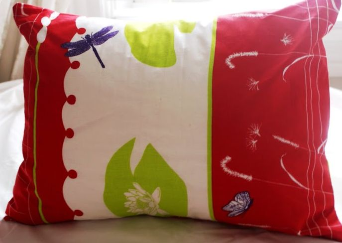 Water Lilies Toddler Pillow Case For Girls.