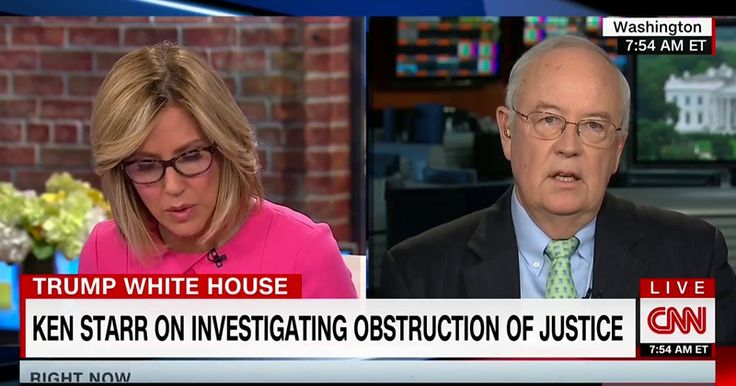 """Ken Starr Bursts CNN's Bubble; """"No Obstruction Case Against Trump From What I've Seen"""""""