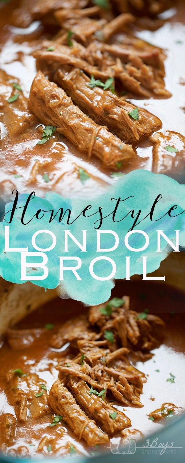 This Homestyle London Broil is the perfect recipe for all of those who aren't sure what to do with this cut of meat! The best comfort food out there!