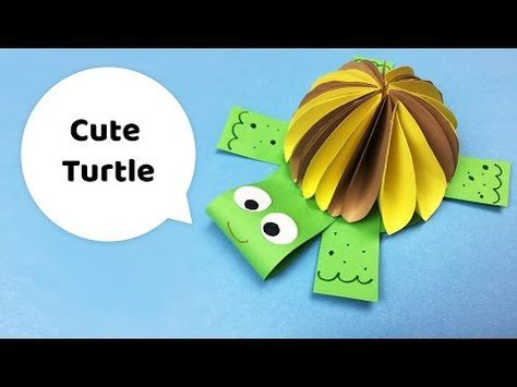 CUTE TURTLE paper craft for kids :), My Crafts and DIY Projects