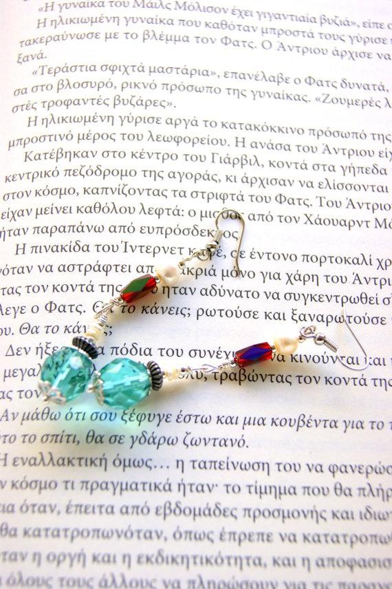 Retro mint green earrings by RenatasArt on Etsy, €12.00