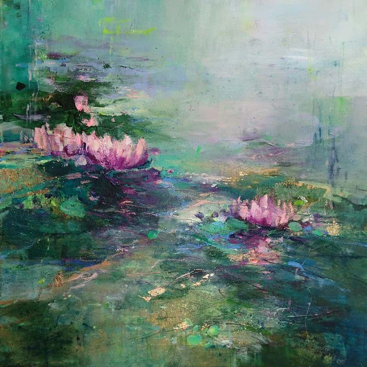 Magdalena Morey – Tranquility II Abstract Landscape painting