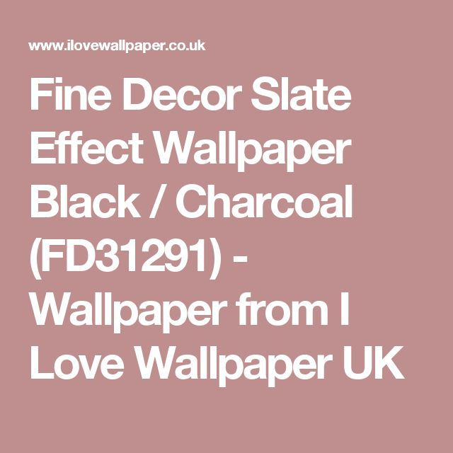 Fine Decor Slate Effect Wallpaper Black / Charcoal (FD31291) - Wallpaper from I Love Wallpaper UK