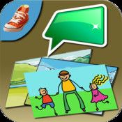 Talk'n Photos je jednoduché fotoalbum, které umožnuje komunikaci s okolím. Obsah Talk n photos je zcela přizpůsobitelný,  aplikace umožňuje uživateli vkládat vlastní texty, hlasové záznamy a obrázky do alb.aplikace umožňuje přidat text a hlasový záznam ke každému obrázku v albu. Počet alb a stránek v něm je neomezený. Obrázky/ fotky do alb mohou být vkladány přímo z Vašeho iPadu, iPhonu atp.