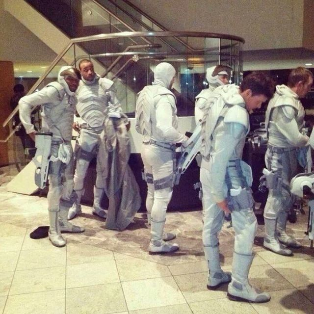 PHOTO: Peacekeepers on the Mockingjay set in Atlanta.