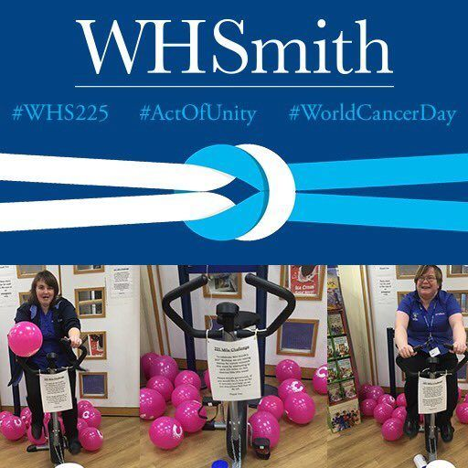 As part of our 225th anniversary celebrations, this year WHSmith has pledged to raise £2 million to be donated to three charities voted for by WHSmith staff; Cancer Research UK, Mind and National Literacy Trust. And so with World Cancer Day taking place on the 4th February 2017, fundraising across our stores really kicked into action.