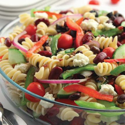 Greek Pulse and Pasta Salad