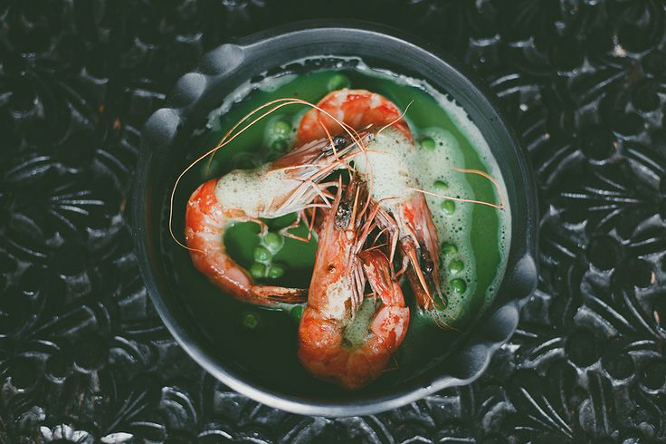 Prawns with Parsley water
