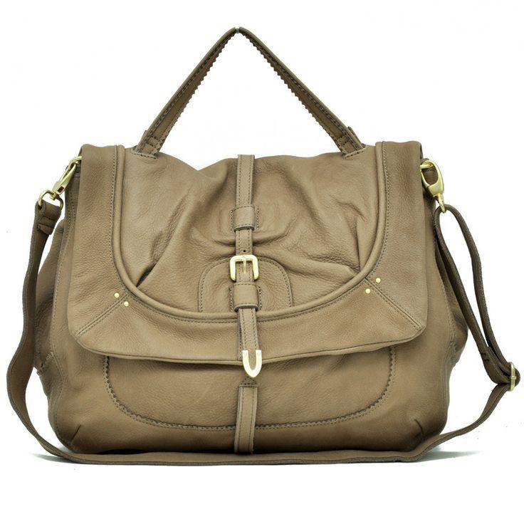 Leather tote shoulder handbag
