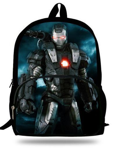 16-inch Kids School Backpack Iron man For Child Age 7-13 Children School Bags Boys Superman Backpack Mochila Infantil