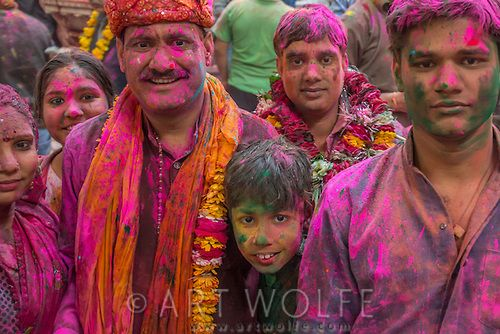 Holi, Mathura, Uttar Pradesh, India