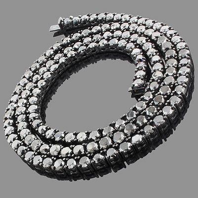 Hip Hop Jewelry: Men's 10K Black Diamond Chain 125.20ct ...