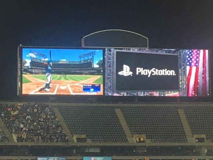 They started playing Baseball video games at a baseball game