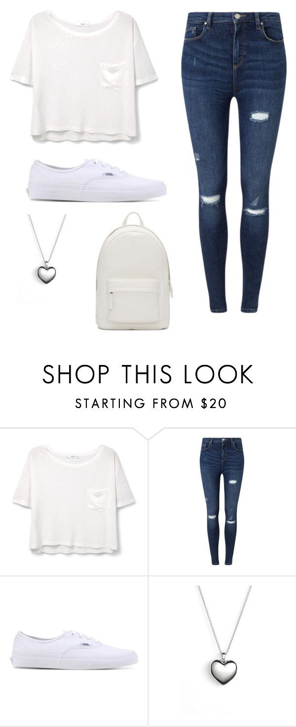 """All White"" by shebethequeen ❤ liked on Polyvore featuring MANGO, Miss Selfridge, Vans, Pandora and PB 0110"