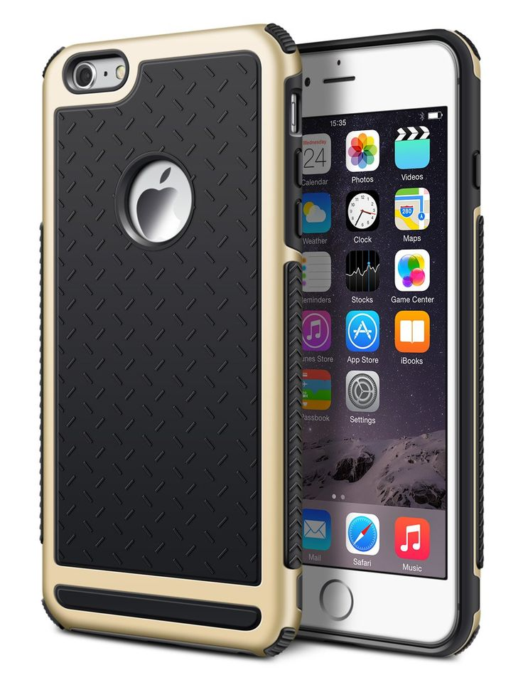 iPhone 6 Plus Case, DACHUI Apple iPhone 6S Plus Cover Slim Case Protective Double Color Back Shell Bumper Case Durable TPU Cover for iPhone 6/6S Plus (Black+Gold). iPhone 6 Plus case, tpu soft back panel, well display the perfect shape of your iphone 6S P