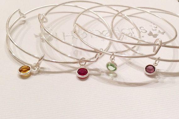 Charm inspirational bracelet Amethyst February by LHGDesigns
