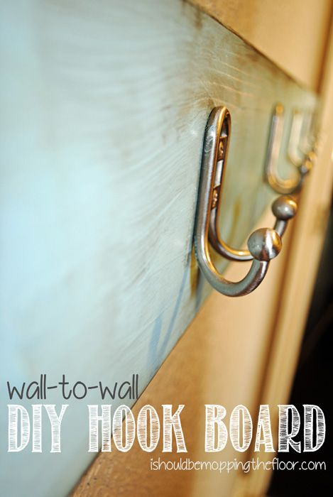 i should be mopping the floor: Wall-to-Wall DIY Hook Board