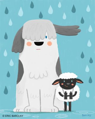 Eric Barclay: Sheep Dog and Sheep Sheep