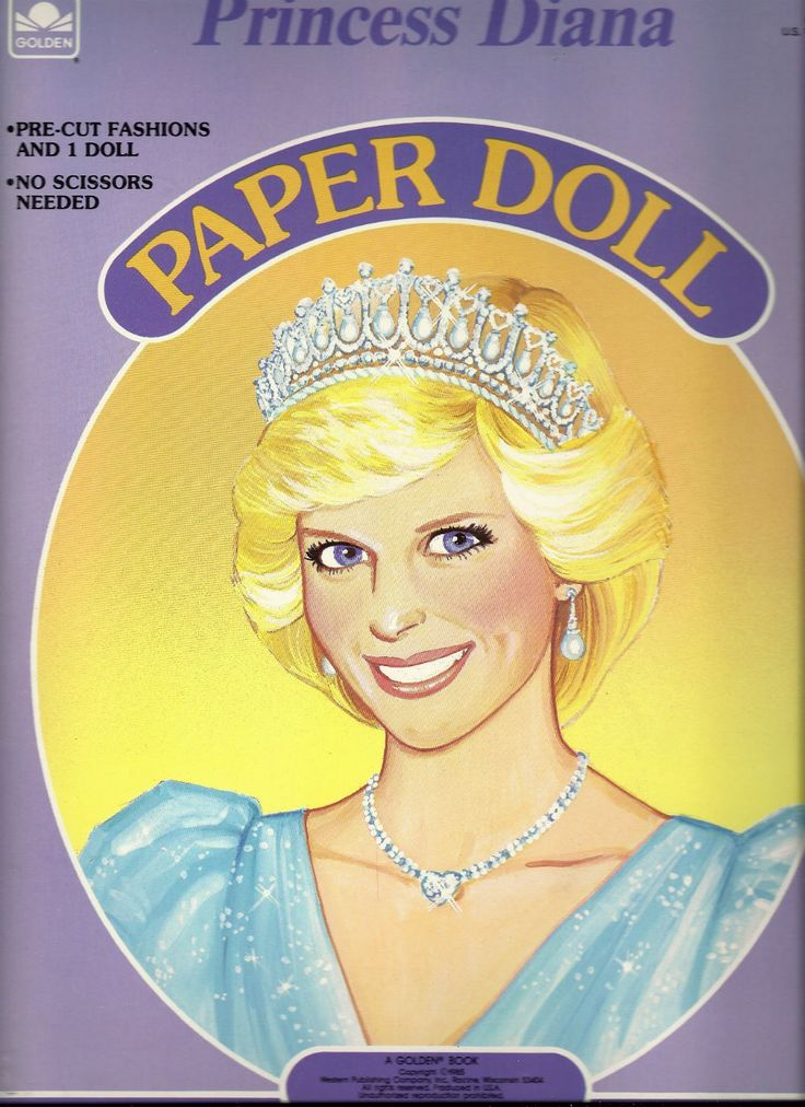 Princess Diana Paper Dolls. I had these! Wish I did now! ;) loved me some paper dolls!