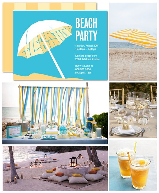 Beach Party Inspiration Board