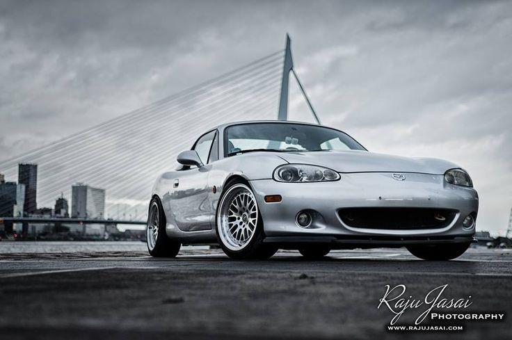 my #mx-5 #mx5 #miata #Mazda #roadster #roadstercrew #drifting #drift #nb #topmiata #stance #stanced #low #lowered #rotterdam #holland #Netherlands #thenetherlands #jdm #japan #japanracing #wheels #deepdish #dish #tires #portofrotterdam #port #city #bridge #Erasmus #rasmusbridge #erasmusbrug #auto #car