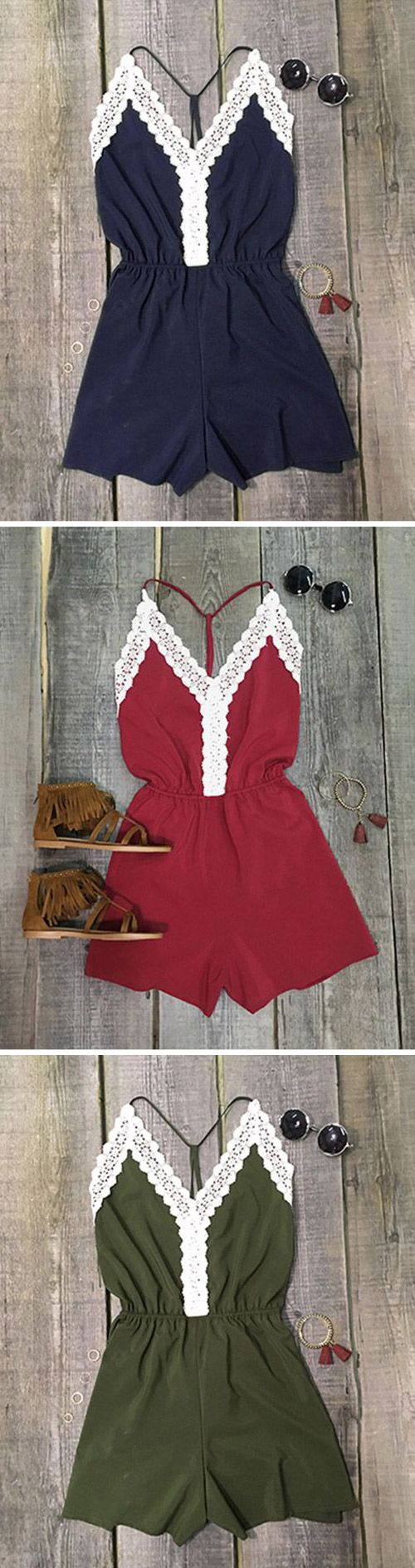 Give those shoulders the spotlight, ladies. Hot Sale Now! This ultra classic fit and flare is everything you need! Get more cute rompers at Cupshe.com !