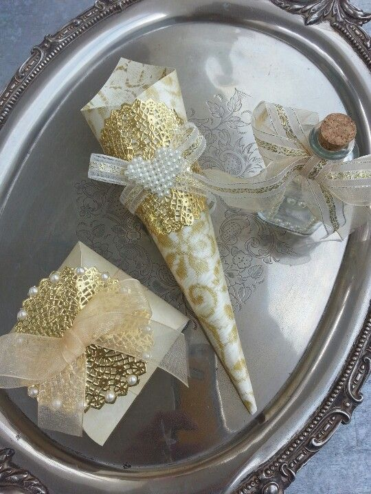 Gold Collection Wedding Favors (for sale on Etsy/Condessa Carlota)