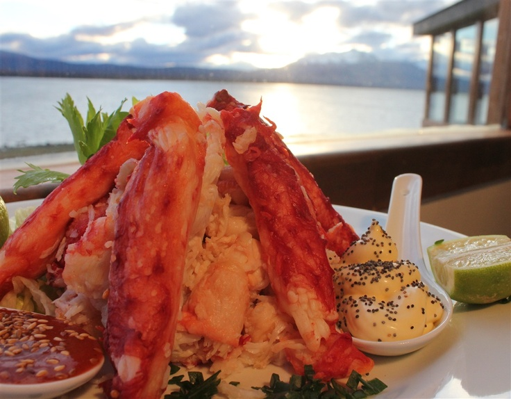 Great view , great food.....  A delicious centolla ceviche.